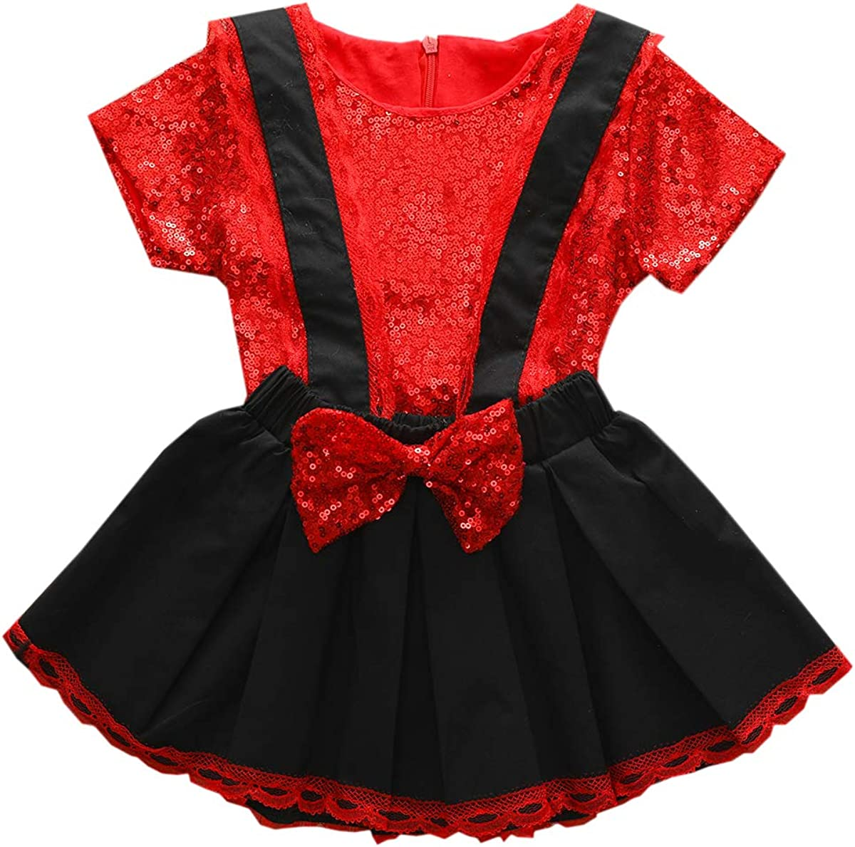 DaMohony Kids Toddler Girl Skirt T-Shirt 70% OFF Fees free!! Outlet Outfits + Suspe Sequins