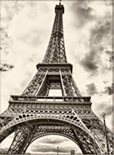 TianMai Hot New DIY 5D Diamond Painting Kit Crystals Diamond Embroidery Rhinestone Painting Pasted Paint By Number Kits Stitch Craft Kit Home Decor Wall Sticker - Eiffel Tower, 45x35cm