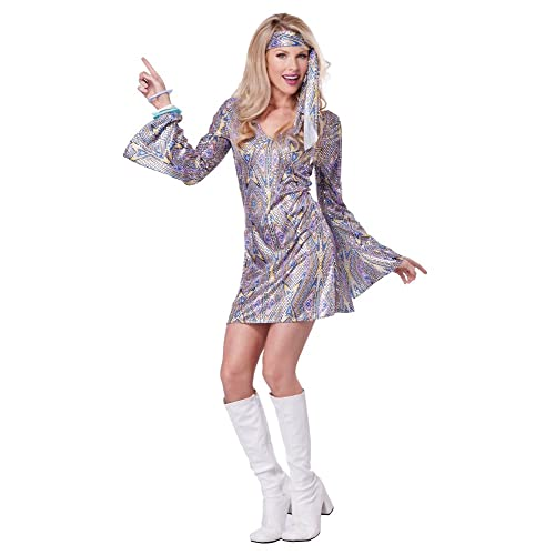 California Costumes Womens Disco Sensation 70s Dance Costume