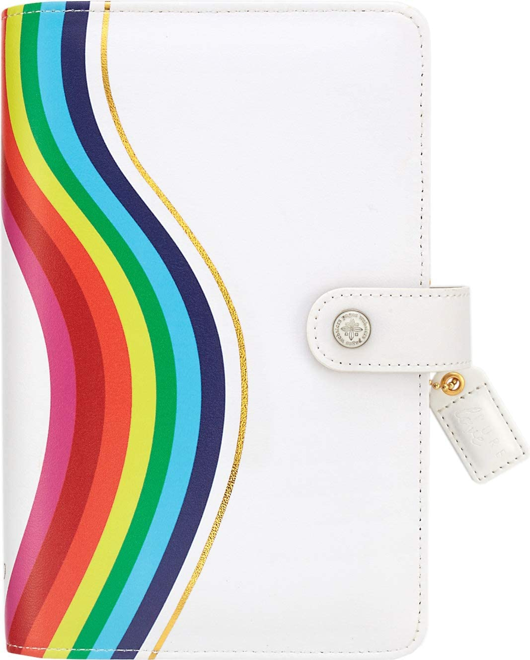 WebsterS Pages Color Crush Faux Leather Personal Planner Kit 5.25x8-Rainbow