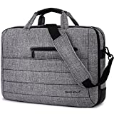 BRINCH 17.3 Inch Nylon Shockproof Carry Laptop Case Messenger Bag for 17-17.3 Inch Laptop/Notebook/MacBook/Ultrabook/Chromebook with Shoulder Strap Handles and Various Pockets (Grey)