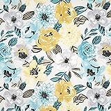 Fabulous Fabrics Dekostoff Canvas Große Aquarell Blumen