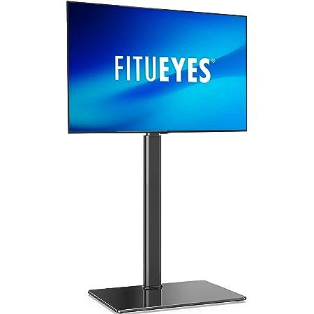 FITUEYES テレビスタンド 32~55インチ対応 壁寄せテレビスタンド AVアクセサリ 高さ調節可能 ラック回転可能 ブラック TT106002GB