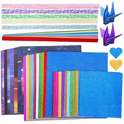 Origami de doble cara, cinta de origami para decoración de regalos artesanales, gran producto para los ávidos amantes del origami (330 hojas, 5 tipos)