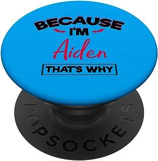 Regalos divertidos de Aiden para niños llamados Cute Boys PopSockets PopGrip: Agarre intercambiable para Teléfonos y Tabletas