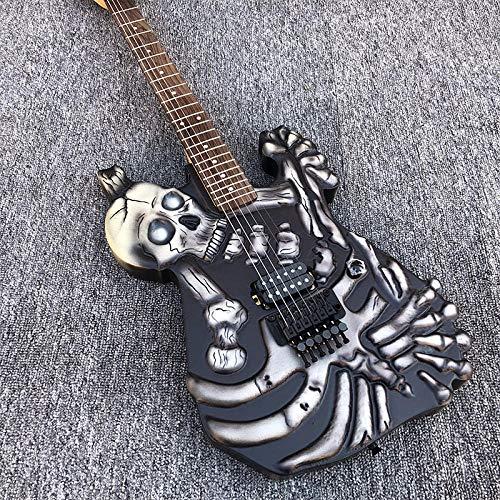 MLKJSYBA Guitarra Guitarra Eléctrica Guitarra Tallada Guitarra De Hardware Negro Sistema De Trémolo De Acero Acústico Guitarras De Cuerda Guitarras acústicas (Color : Guitar, Size : 41 Inches)