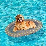 Aufblasbar Schlauchboot Hunde Boot Haustier Luftmatratze Schwimmbad Strand Spielzeug, Grau