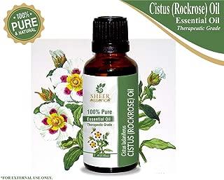 Cistus (Rockrose) Oil (Cistus Ladaniferus) Essential Oil 100% Pure Natural Undiluted Uncut Therapeutic Grade Oil 0.33 FL.OZ