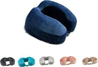 FELIX ANGELA HOME Memory Foam Travel Pillow, Neck Support Pillow with Ultra Plush Washable Micro-Mink Cover for Airplanes,...