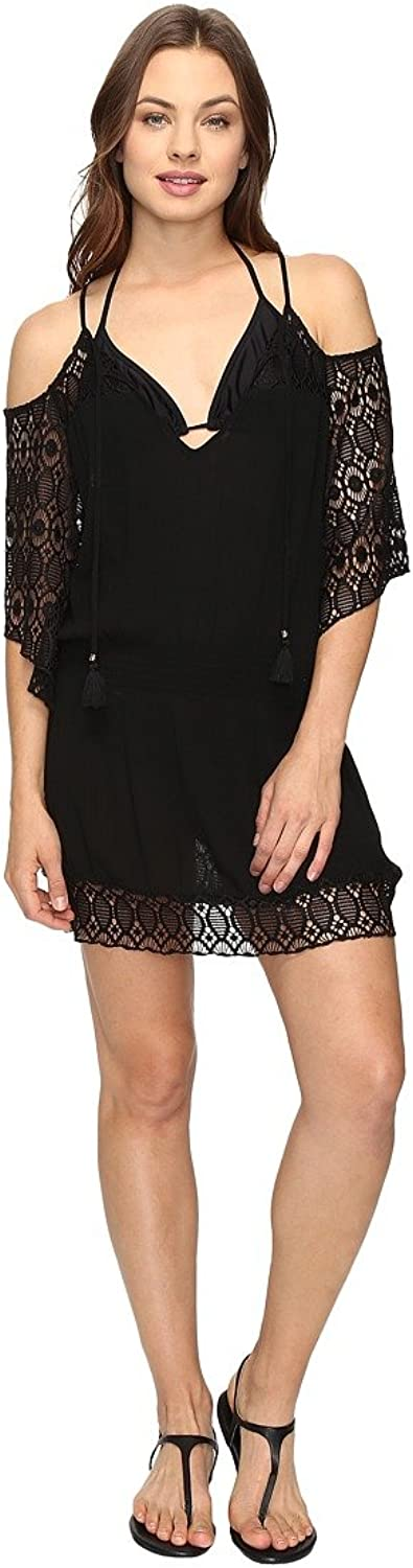 Becca by Rebecca Virtue Women's Poetic Tunic Swim Cover Up Black S