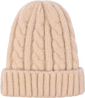 LAUSONS Sombrero de Punto Trenzado Gorro de Invierno Mujer