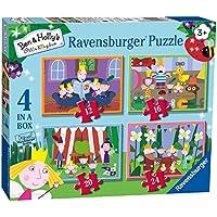 Ravensburger Ben & Holly 4 en una Caja (12, 16, 20, 24 Piezas) Puzzles de Sierra