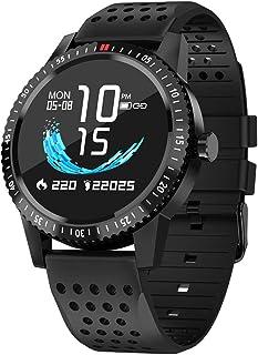 NANE Reloj Inteligente, Impermeable IP67, con Múltiples Modos de Deporte, Pulsera Inteligente, con Pulsómetro, Blood Pressure, Sueño, Podómetro, GPS, Reloj Hombre para Android y iOS,Negro