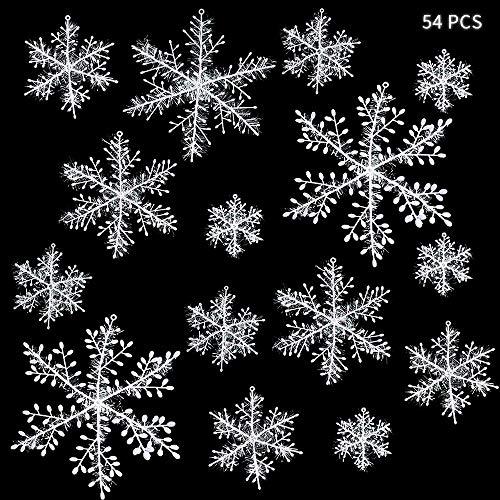 ZoneYan Copos de Nieve Navidad, Copos de Nieve Decoracion, Copos de Nieve...