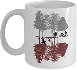 Awesome TV Show Mug - The Upside Down Coffee & Teacup - 11oz Ceramic Eleven Cup - Great Unique Gift Idea For TV Show Fans, Siblings, Fathers, Mothers, Boyfriends, Girlfriends, Him or Her