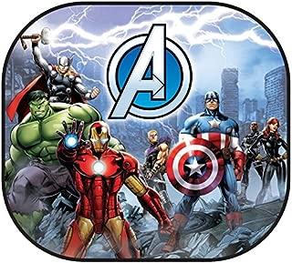 Marvel 003749R01 Avengers 2-Piece Magic Spring Window Sunshade