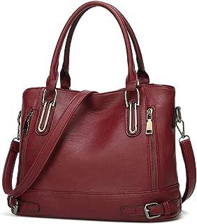 BUKESIYI Damen Tasche Handtasche Umhängetasche Schultertasche Frauen Kulturbeutel Weekender Klein PU Leder CCDE77212