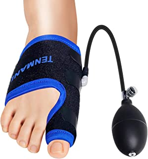 TENMAND Bunion Corrector and Toe Straightener & Adjustable Orthopedic Pneumatic Bunion Splints Relief Hallux Valgus Bunion Pain with Splint Aid Treatment for Women and Men (Right Foot)