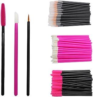 300 Pieces Brush Set, Disposable Eyelash Applicators Silicone Mascara Wands Lip Gloss Wand Lash Extensions Makeup Brush To...