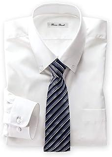[nissen(ニッセン)] シャツ 桁丈76 首廻り43 抗菌防臭・形態安定長袖ワイシャツ(ボタンダウン)(標準シルエット)
