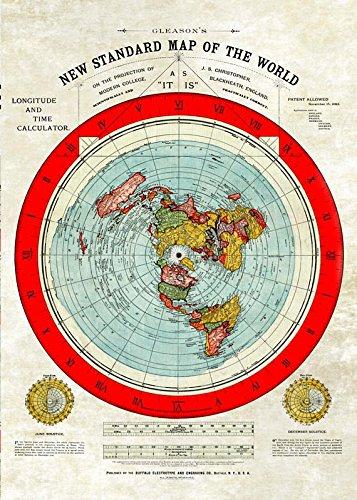 Póster Tierra Plana A0 *Restaurado* Nuevo mapa estándar