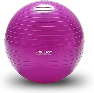 Yoga Ball Thickened Explosion-Proof Slimming Weight Loss Child Pregnant Women Balance Exercise Massage Ball (Color : Purple, Size : 55CM)
