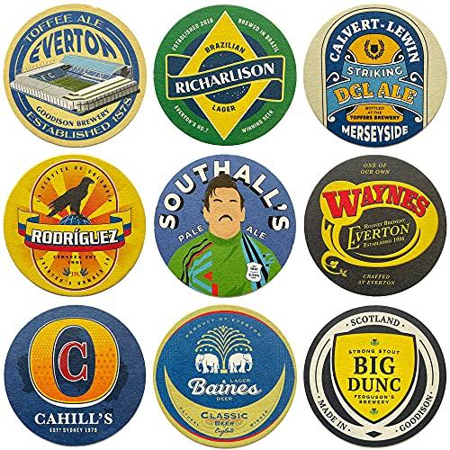 Everton Beer Mats x9