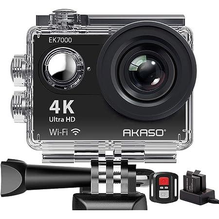 Action Cam Akaso 4k Wifi Action Kamera Unterwasserkamera 170 Ultra Weitwinkel Full Hd Sports Kamera Mit 12mp 2 Zoll Lcd Bildschirm 2 4g Fernbedienung Ek7000 Heimkino Tv Video