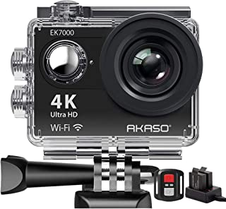 AKASO SY0004 - Camara de accion deportiva WIFI 170 ° Ultra amplio Full HD con 12 MP Sumergible Negro