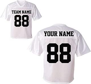 Custom Sports Jerseys - Make Your OWN Jersey T Shirts - Personalized Team Uniforms for USA Soccer Baseball Basketball Football Softball & Hockey