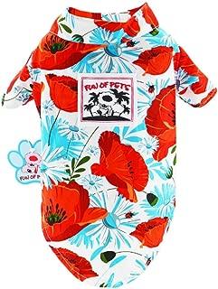 Stock Show Pet Hawaiian Shirt, NewStyle Summer Beach Vest Short Sleeve Pet Clothes Dog Top Floral T-Shirt Hawaiian Tops Dog Jackets Outfits for Small Dogs Breeds Cats