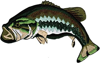 Bass Fish Patch Embroidered Largemouth Large Mouth Freshwater Fishing Iron-on