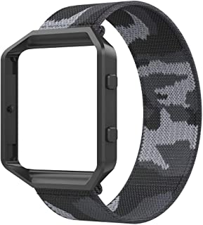 Bands Compatible with Fitbit Blaze Smartwatch,Elastic Wrist Band with Meatl Frame Replacement for Fitbit Blaze.Fit for 6....