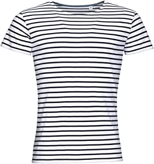 fbfa204a9eeac SOLS Miles - T-shirt rayé à manches courtes - Homme