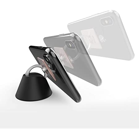 Key Black Earphone Wall-Mounted Mini Multi-Function Magnetic car Hook Sticky Bracket for Mobile Phone Ring Bracket Organize Data Cable