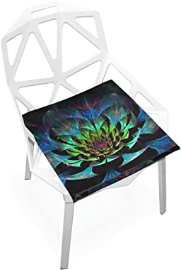 DOENR Seat Cushion Chair Cushions Covers Set Lighting Flower Decorative Indoor Outdoor Velvet Double Printing Design Soft Seat Cushion 16 x 16