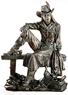 PANRODO Cowboy Figurines Sculpture 12 Inch Resin Creative Vintage Unique Birthday Gifts Figure Statues