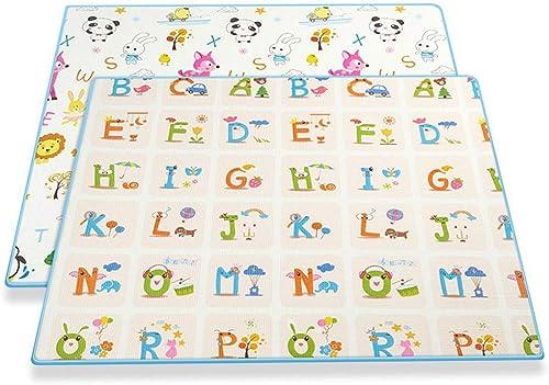 GOPG Baby Teppich, rutschfest Atmungsaktiv Weiße Sto mpfung Langlebig und Umweltfreundlich Baby-Krabbeldecke Gamepad-Doppelseitig-150x185Cm(59x73Zoll)
