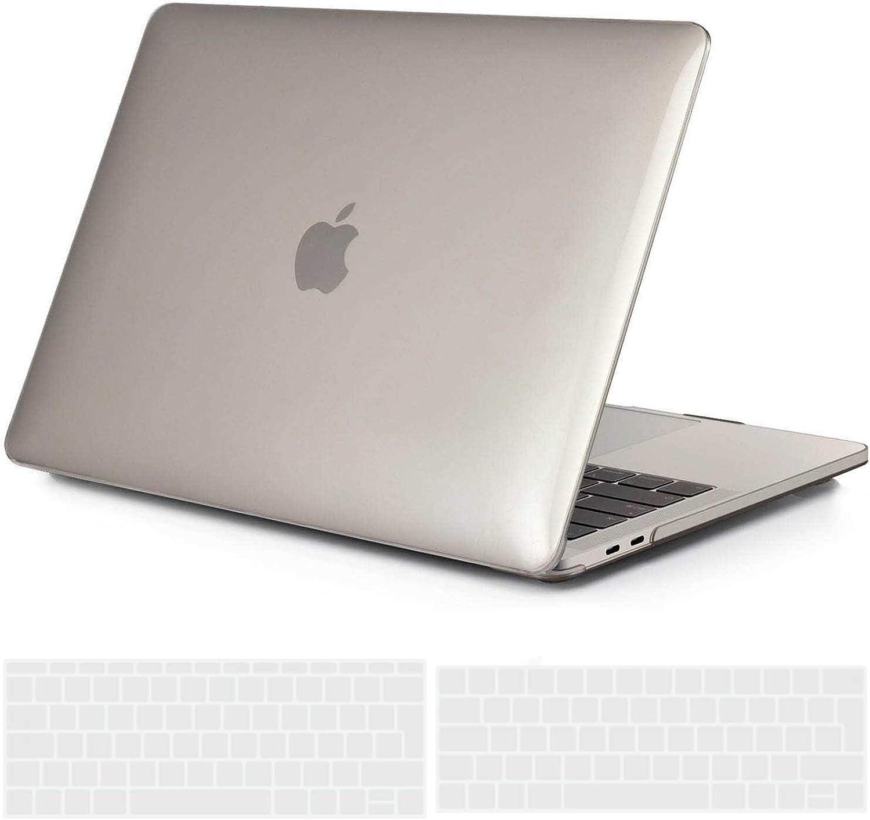 Mod/èle: A2338 M1//A2289//A2251//A2159//A1706//A1989 Plastique Case /Étui /& EU Protection Clavier /& Adaptateur USB C pour MacBook Pro 13 Touch Bar Noir Clair TECOOL Coque MacBook Pro 13 Pouces 2016-2020