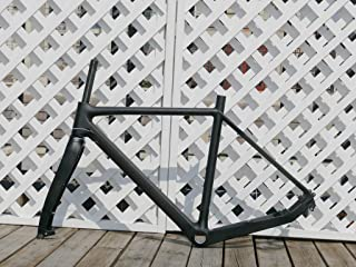 flyxii UD Carbon Matt Cyclocross Bike Frame CX Bicycle Frame 51cm (for BSA) + Cycling Fork