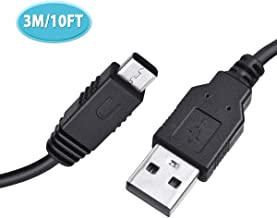 6amLifestyle USB Charger Cable for Nintendo Wii U Gamepad Controller 10 Feet Long USB Power Charging Cord