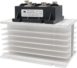 Baomain Bridge Rectifier MDQ-200A 200A 1600V Diode Module with Heat Sinks Aluminum