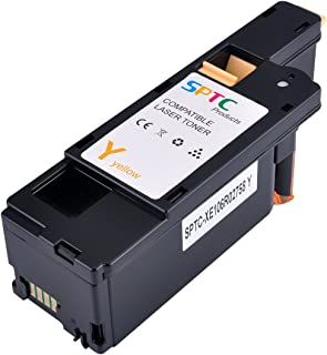 SPTC High Yield Compatible Phaser 6020 6022 6022/NI WorkCentre 6025 6027 6028 Toner cartridges 1 Pack Replacement for 106R02758 Yellow