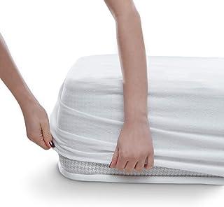 Alreya Protector de colchon Impermeable Cuna 60x120 cm - Cubre Colchón Transpirable, Algodón Natural, Hipoalergénico, Anti-bacteriano, Anti-acaros - Garantia de 10 Anos