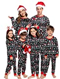 Aibrou Pijamas de Navidad Familia Conjunto Algodón Ropa de Dormir Otoño...