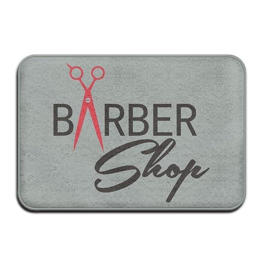 フロー上つなぐDoor Mat Hair Barber Non-slip Stain Fade Resistant Soft Living Dining Room Rug For Front Door Entrance Outside Doormat 23.6(L) X15.7(W) Inch