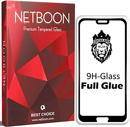 NETBOON® Premium Full Glue Tempered Glass Screen Protector for Huawei Honor 10 - Black