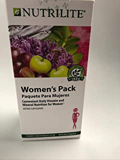 Daily Women Vitamins and Minerals Package on The go by Nutrilate, 24 Vitamins and Minerals, Calcium, Vitamin D, C, Biotin, Collage, Magnesium, Balanced Health Omega.
