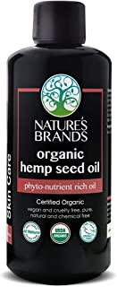 Herbal Choice Mari Organic Hemp Seed Oil - Pure, Unrefined, Cold Pressed - High in Omega 3-6-9 Fatty Acids - Reduces Inflammation - Relief for Dry, Cracked Skin, Eczema & Psoriasis - 3.4 fl oz