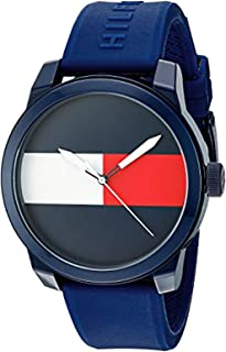 Tommy Hilfiger Men's Blue Dial Rubber Band Watch - 1791322